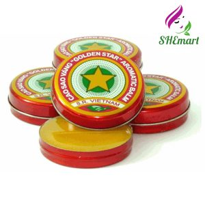 Set 03 X 10g Golden Star Aromatic Balm Vietnamese Cao Sao Vang Ointment Cream